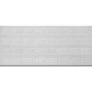 16 ft x 7 ft insulated white double garage door at lowes com