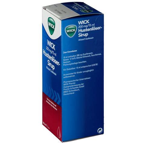 Mucohexin 4 Mg Eliksir Sirup 120 Ml wick hustenl 246 ser sirup 200 mg 15 ml 180 ml