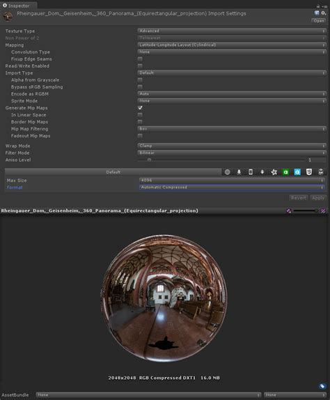 unity cubemap layout use a 360 degree panorama as a skybox tales from the rift