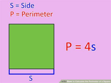 how to calculate perimeter 3 ways to calculate the perimeter of a square wikihow