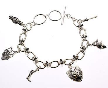 silver armor of god charm bracelet