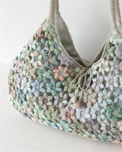 crochet pattern flower bag sophie digard 2013 freesias handbag crochet bags