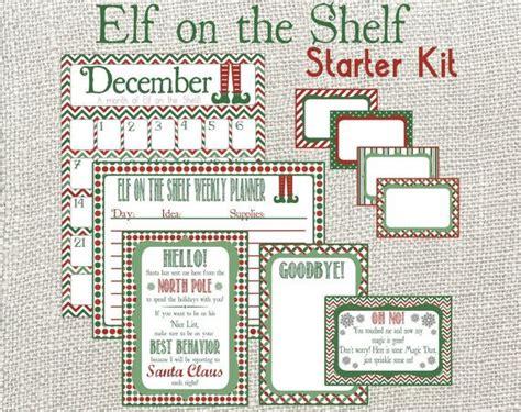 printable elf on the shelf kit elf on the shelf starter kit monthly calendar weekly