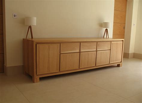 Bespoke Handmade Furniture - oak and glass table sideboard bespoke handmade