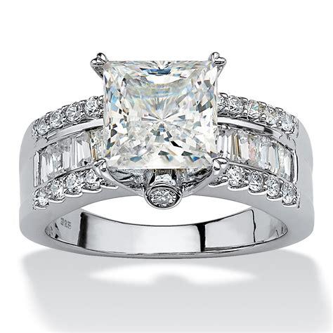 palmbeach jewelry 3 43 tcw princess cut cz platinum