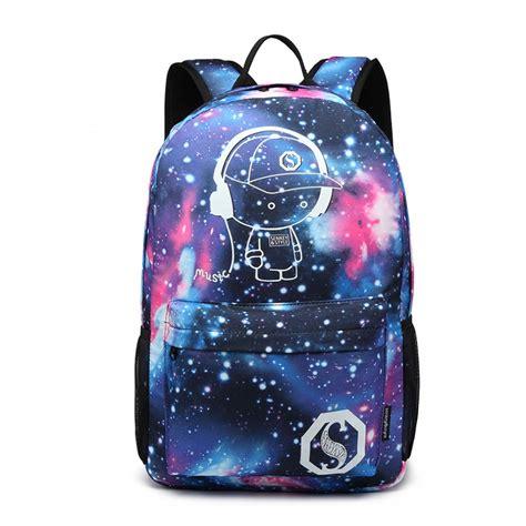 kono galaxy glow   dark backpack blue