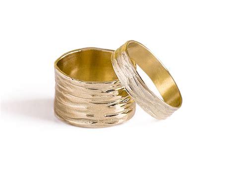 wedding band sets14k solid gold wide wedding band sets