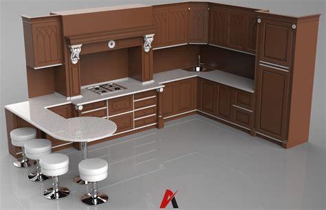 3d model kitchen set 3d kitchen set v1 mode 3d model obj mtl cgtrader com