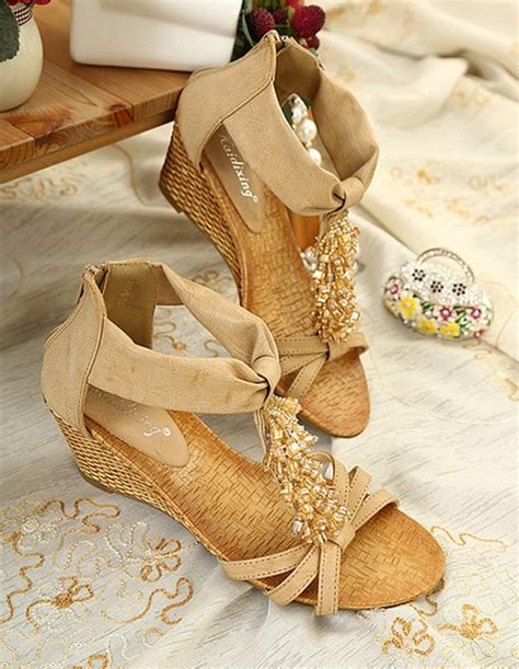 Sandal Unik Sandal Bohemian Terlaris 4 bohemian style wedge heels sandals shoes on luulla