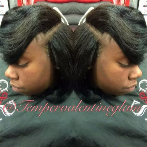 deep part bang deep side part swept bangs sew in yelp