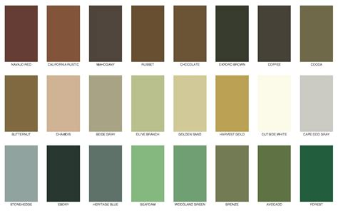 messmers decking stain solid color chart for house exterior colour chart deck