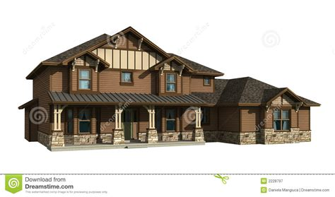 siding with mr house 3d model of two level house royalty free stock photography image 2228797