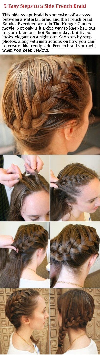 french braid your hair in 7 simple steps with a video 5 easy steps to a side french braid http www bellasugar
