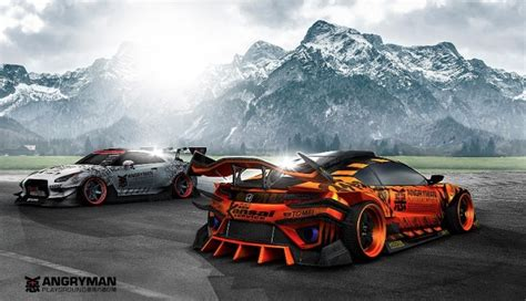 artist creates 2015 honda nsx gt race car pits it against gt r