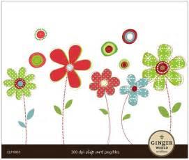 Niecey s blog cute whimsy modern flower clip art digital illustration