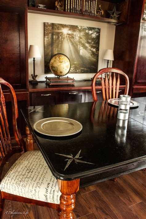 dining table transformation fusion mineral paint