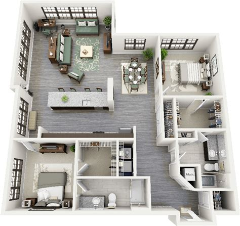apartment in durham nc 1 bedroom 3d floorplans parrish two bedroom apartment floorplan