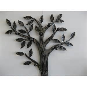 porte manteaux m 233 tal murale arbre coloris argent 7 pat 232 res