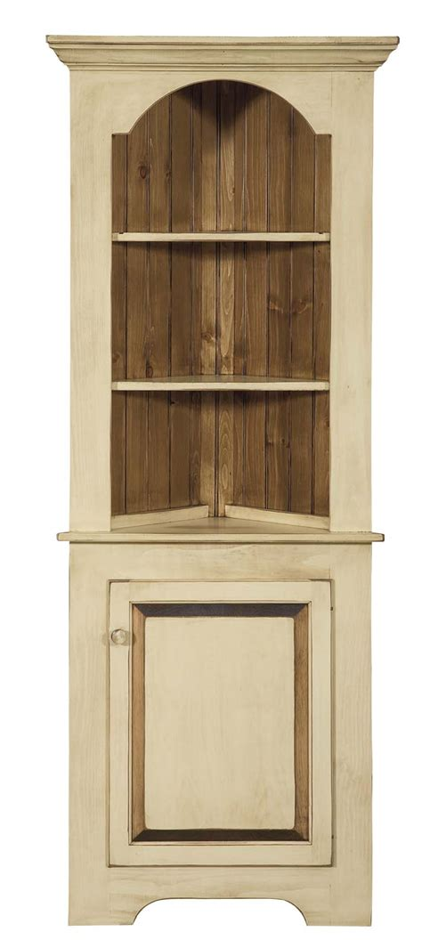 Corner Kitchen Hutch Furniture by Unfinished Corner Cabinet Pine Mf Cabinets