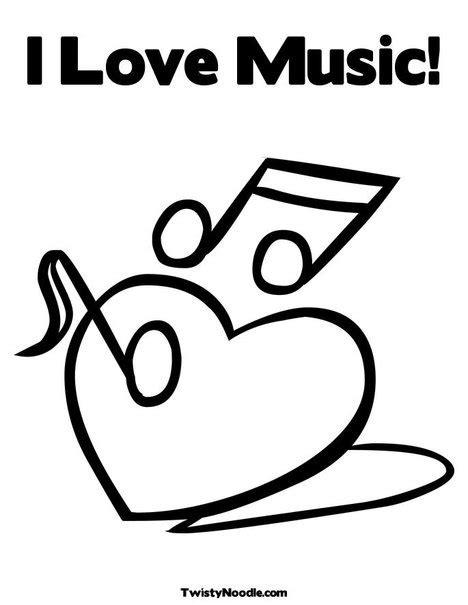 Music Valentine Coloring Pages | 45 best images about muziek kleurplaten on pinterest