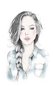 art beautiful beautiful hair braid cute draw drawing