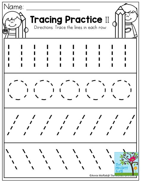 printable handwriting worksheets for kindergarten tracing practice tons of printable for pre k