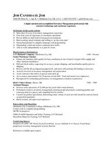 Sle Resume For Lpn by Inventory Manager Cover Letter Images Cover Letter Sle