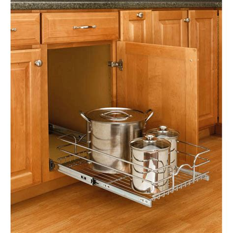 kitchen cabinet pull out baskets rev a shelf single kitchen cabinet chrome pull out baskets ebay