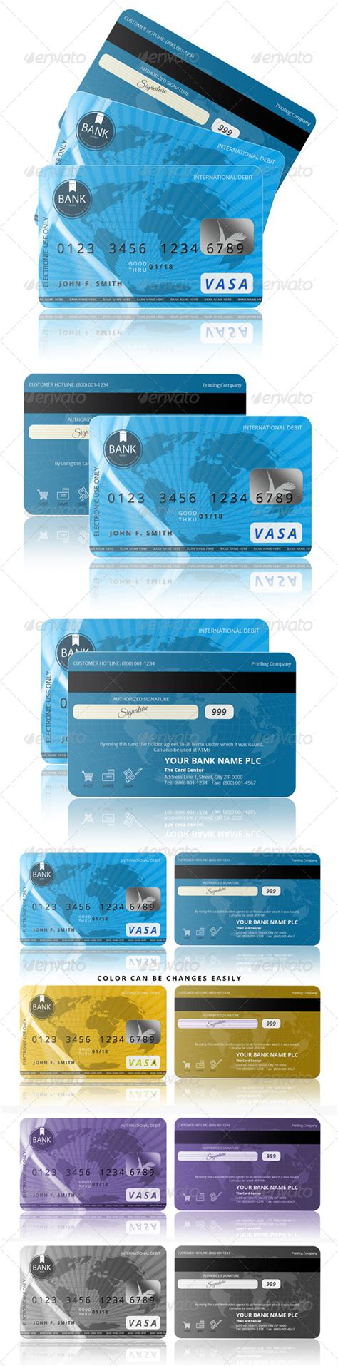Credit Card Template Front And Back vector templates credit card front and back free photoshop