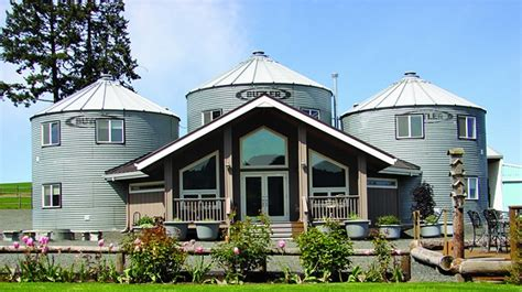 three grain silos converted into a unique farmhouse