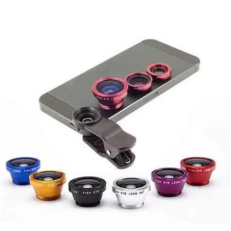 3 In 1 Universal Smartphone 3 in 1 universal clip on smartphone lens 6 colors vistashops