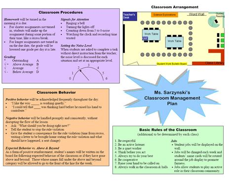 classroom layout management classroom management plan template google search work