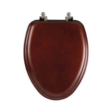 oblong toilet seat lowes shop mayfair reflections cherry wood elongated