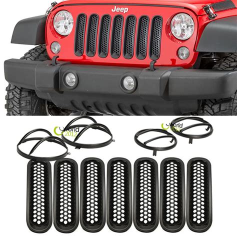Grill Inserts For Jeep Auto Front Mesh Grill Insert Grille Trims Turn Signal