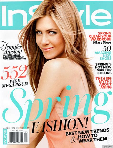 On Cover Of In Style by Aniston Instyle Cover March 2012 Everyone Else