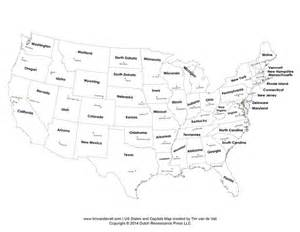 Us State Capitals Map by Us Map With Capitals Map Of The World