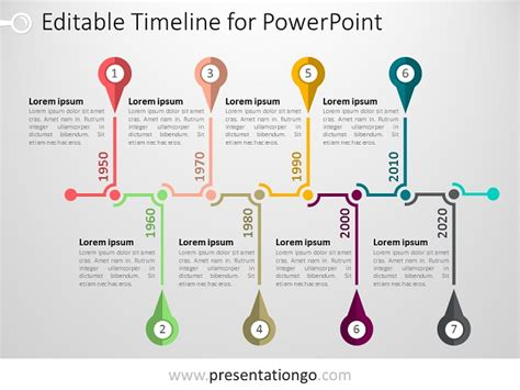 Free Timelines Powerpoint Templates Presentationgo Com Timeline Templates For Powerpoint