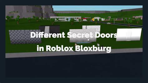 hidden door designs roblox bloxburg youtube
