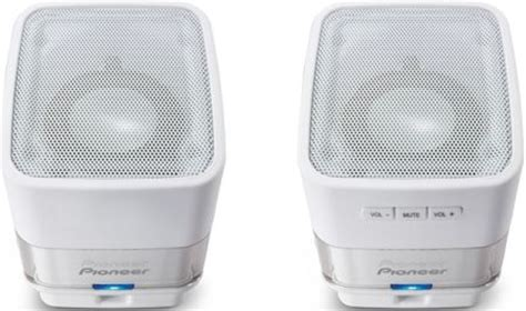 Pioneer Smm 201kw Usb Computer Speaker pioneer s mm201 w usb powered computer speakers white 1 75 aluminum drivers x2 1 5w x 2