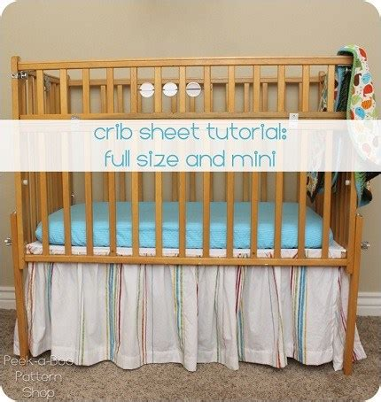Tutorial Fitted Crib Sheets For Standard Or Mini Mini Crib Bumper Pattern