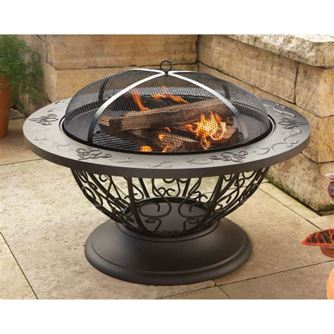 Walmart Firepit Better Homes And Gardens Scroll Outdoor Firepit Walmart