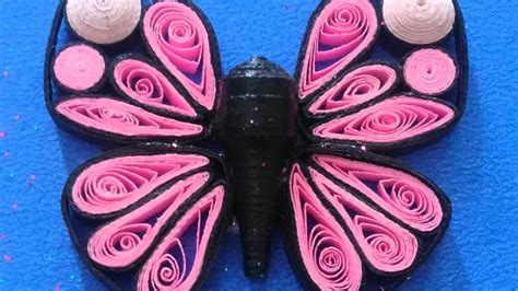 tutorial cara membuat paper quilling how to make a beautiful paper quilling butterfly cara