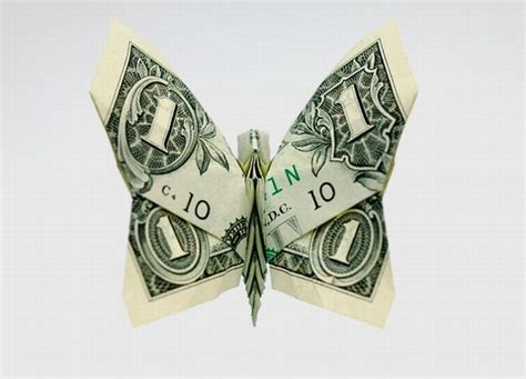 Origami Dollar Bill Butterfly - money origami 20 pics curious photos pictures