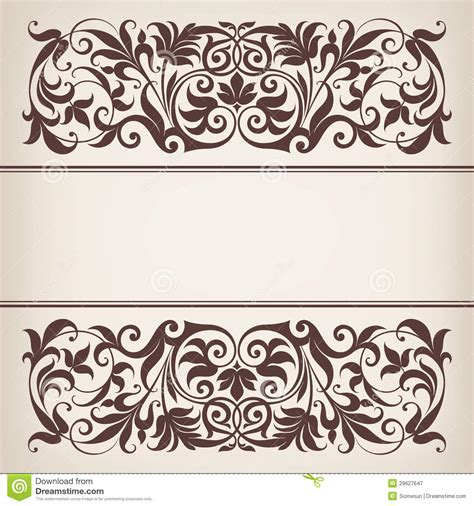 border frame design vector 18 vintage vector border images free vector calligraphic