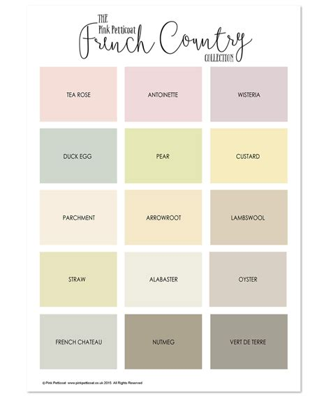 country color palette introducing the new country colours collection