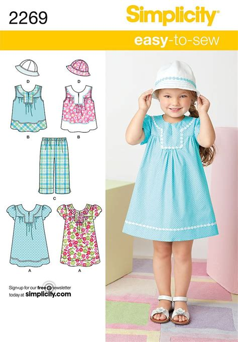simplicity pattern ease simplicity pattern 2269 child s easy to sew dress top