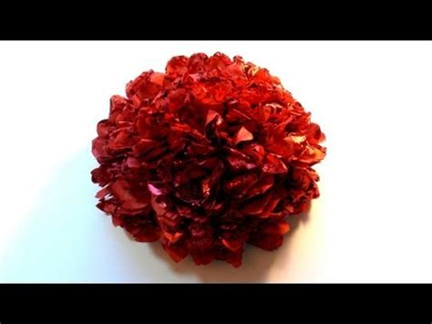 How To Make Big Flowers Out Of Tissue Paper - how to make a big flower with tissue paper