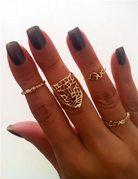 Eheringe Finger by Mid Finger Ring And Tiger Ring Accessorize Me