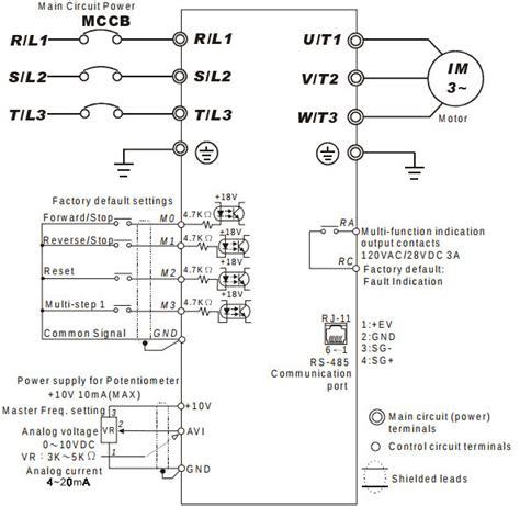 delta inverter wiring diagram inverter diagram