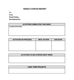 Weekly Update Template by Weekly Status Report Template 9 Free Documents